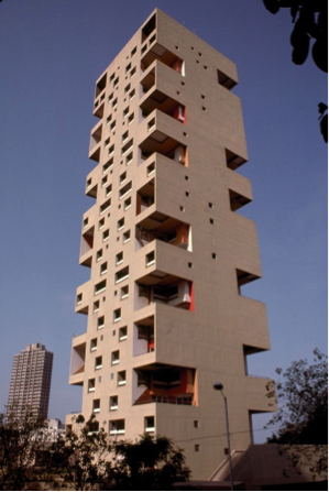 kanchanjunga apartments by charles correa mumbai